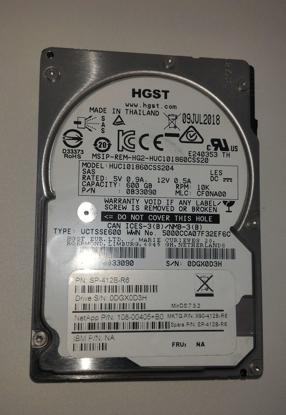 """Bild von HITACHI HGST 600GB 10K 128Mb 12GB/s 2.5"""" SAS HDD Hard Drive HUC101860CSS204"""